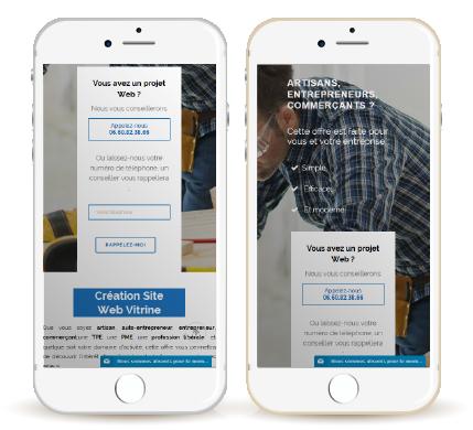 Exemple de création Site Internet responsive et e-commerce pour l'entreprise iPerche