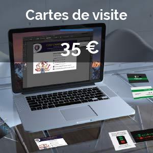 Offre Création Cartes de visite : 35 euros
