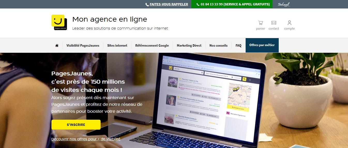 Site internet Pages-Jaunes - Création de sites internet - Agence en ligne